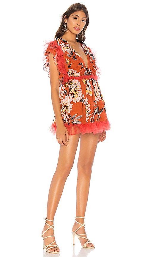 8bdc6b9acb0a6 Tularosa Amelia Dress in Orange Dahlia Floral
