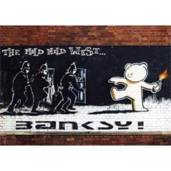 The Banksy Shop - Banksy Canvas Print - Mild Mild West, £29.95 (http://www.thebanksyshop.co.uk/banksy-canvas-print-mild-mild-west/)