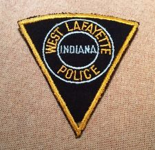 West Lafayette Indiana Police Patch