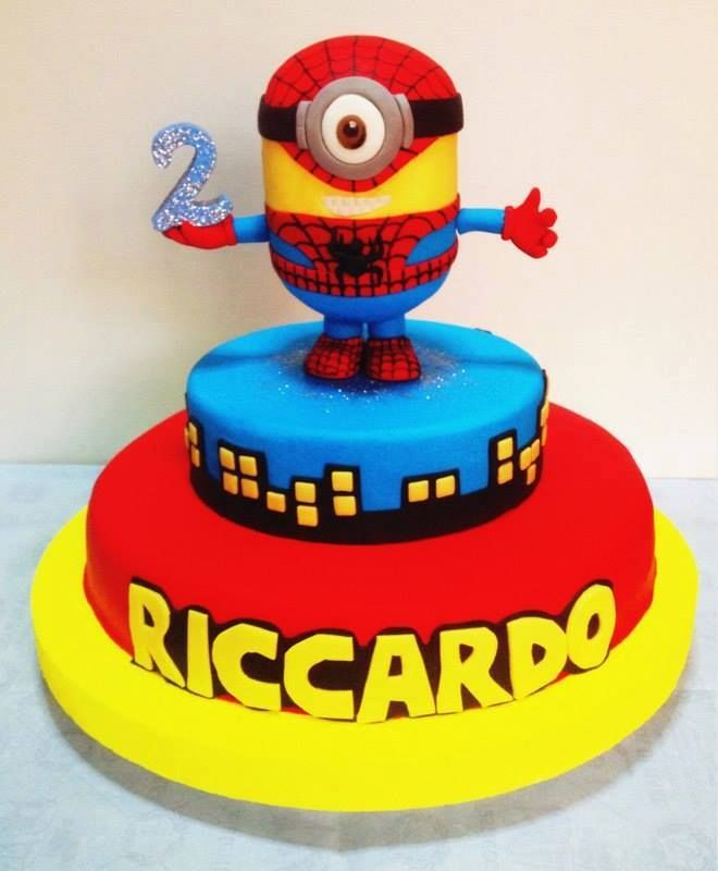 Cake Minions Spiderman
