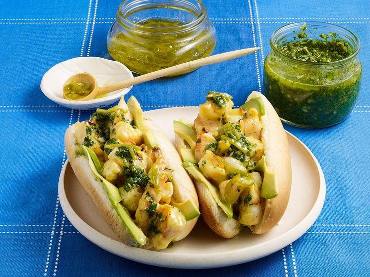Shrimp Rolls with Pepita and Cilantro Pesto