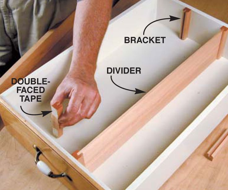 Is there a simple way to add dividers to my kitchen drawers without taking them apart?