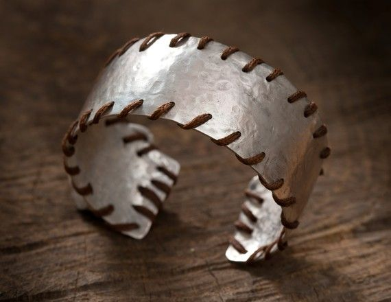 Leather and silver cuff.