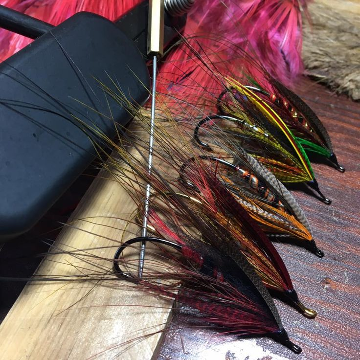 Snowy weekend speys , Bronze Mallard, married or widgeon wings, BH and Aj hooks. Warm house and Blind Faith in the back ground By John Wells