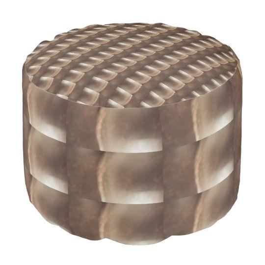 Metallic Look, Round Pouf http://www.zazzle.com/metallic_look_pouf_round_pouf-256481032541726377 #home #decor #interior #design