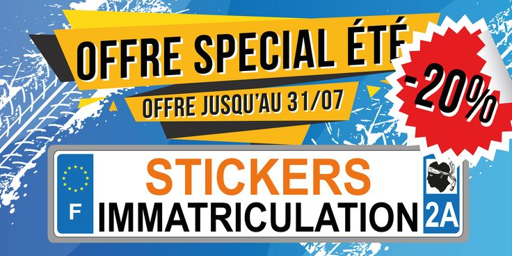 PROMO -20% Sur les stickers de plaques immatriculation  NOUVELLES REGIONS DISPONIBLES  https://zonestickers.fr/220-sticker-autocollant-plaque-immatriculation    #ZoneStickers #Stickers #autocollants #immatriculation #plaque #voiture