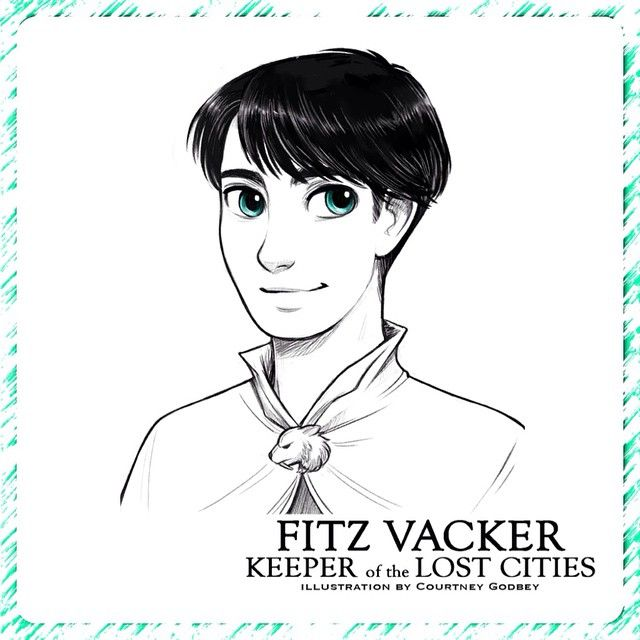 Fitz Vacker From The KEEPER OF THE LOST CITIES Series Drawing By Clg