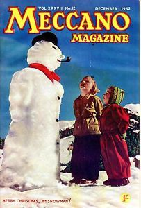 DECEMBER-1952-Vintage-Meccano-Magazine-MEERY-CHRISTMAS-MR-SNOWMAN-20880