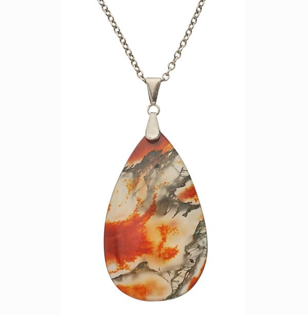 Moss Agate Pendant...A Swirling Sea of Splashing Colours! Silky and Smooth!