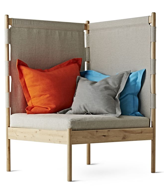Ebba Strandmark's delightful corner easy chair (price TBD) will be available in August 2014. Ideal for small spaces