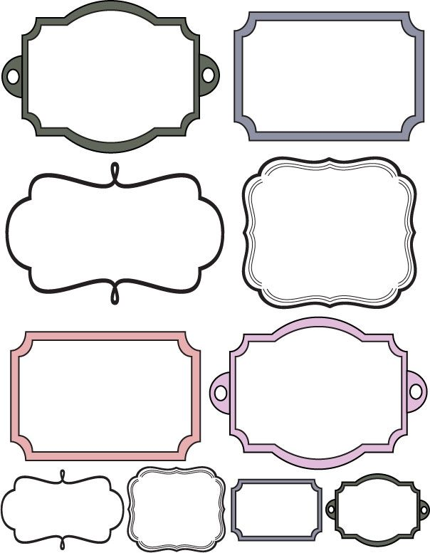 Free scrapbook frame template borders joy studio design for Templates for scrapbooking to print