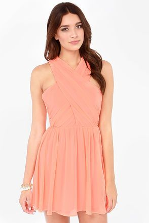 9c758413a0 Keepsake heartlines bright peach dress ladies pinterest dresses cute dresses  and bridesmaid dresses jpg 294x441 Bright