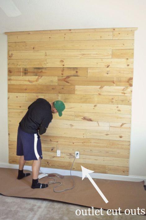 25 best ideas about diy headboard wood on pinterest for Diy pallet headboard king