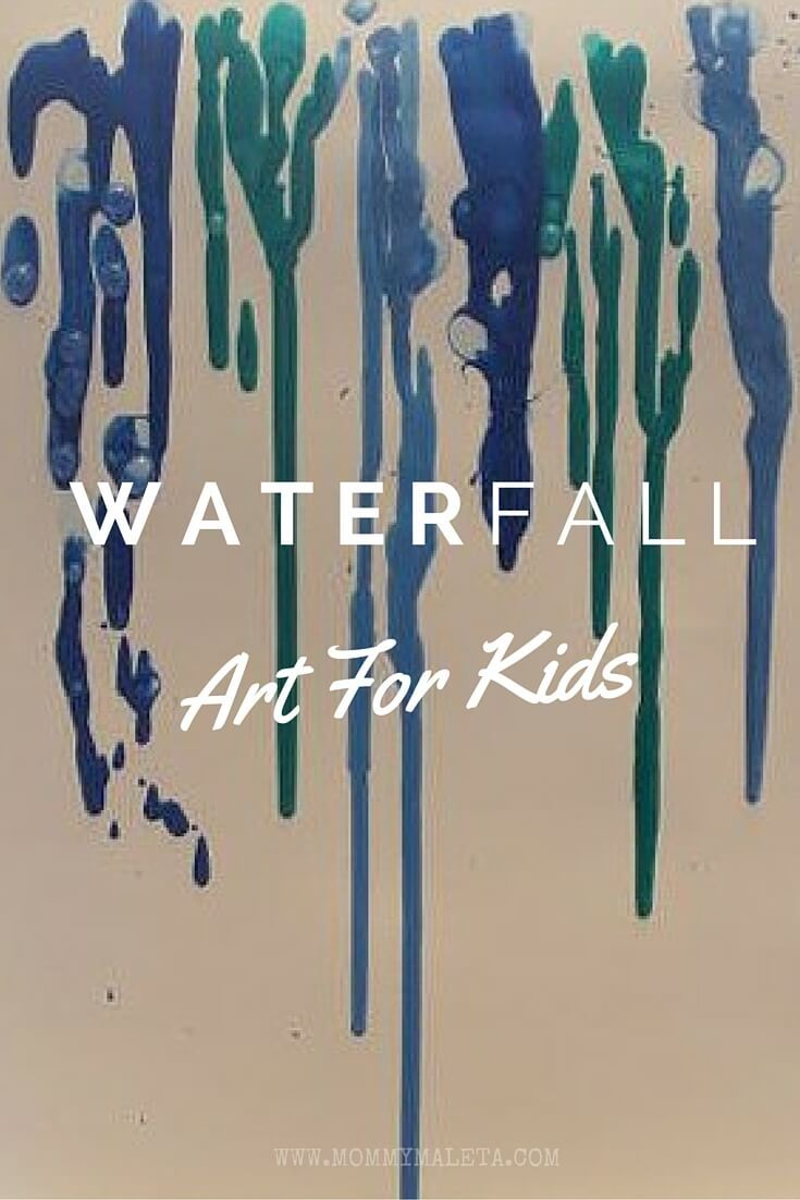 Waterfall Art Project For Kids | sermay's act/ideas | Fall ...