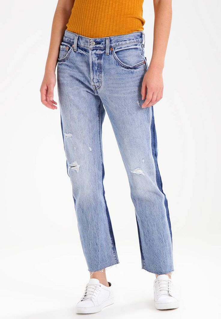 """Levi's®. 501 CROP - Relaxed fit jeans - you pretty thing. Fit:loose. Outer fabric material:100% cotton. Our model's height:Our model is 69.5 """" tall and is wearing size 27. Care instructions:machine wash at 30°C. Details:fringing. inner leg length:28.5 """" (..."""