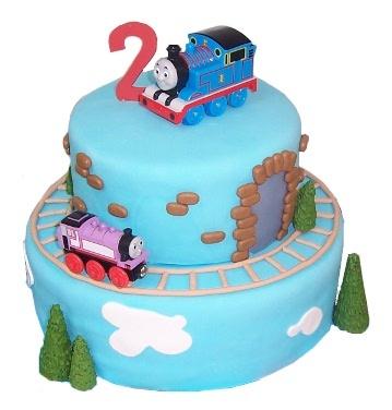Cakes by  Karen Thomas the Train cake