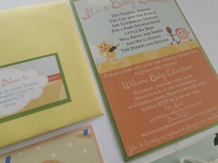 72 best nursery rhyme and storybook themed baby showers images on nursery rhyme baby shower invitations made to order 10000 via etsy filmwisefo Images