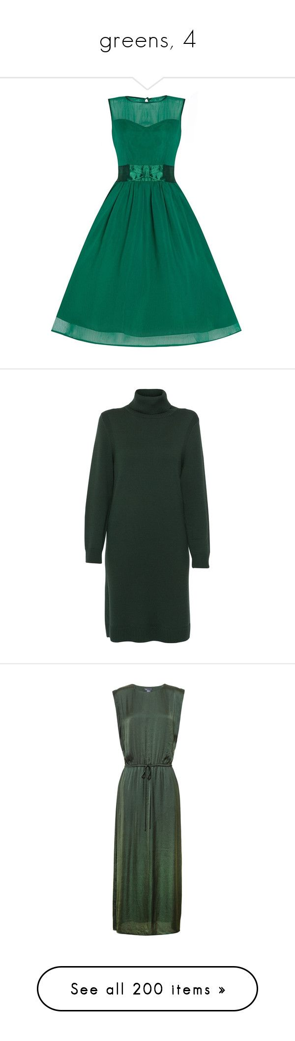 """""""greens, 4"""" by confluence ❤ liked on Polyvore featuring dresses, blue dress, blue formal dresses, green dress, green formal dresses, green prom dresses, green, long sleeve turtleneck, olive green turtleneck and green sweater dress"""