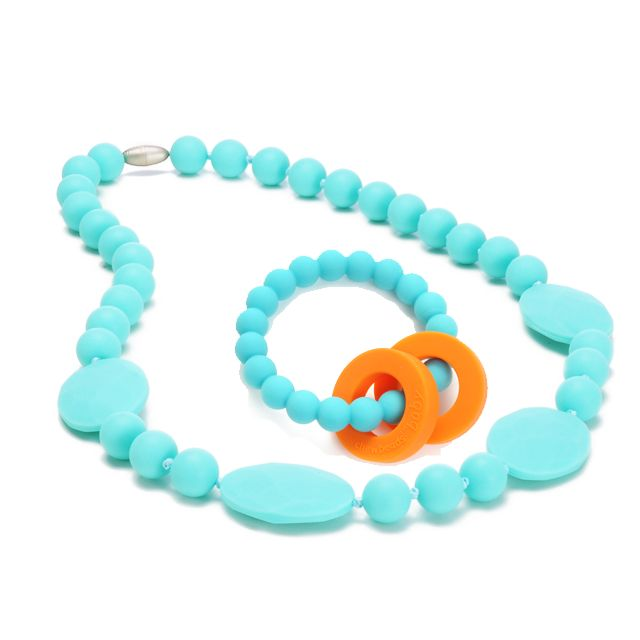 Teething necklace for mom to wear teether for baby a for When can babies wear jewelry