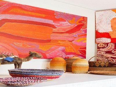 Indigenous art display.