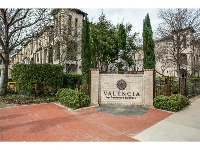 Mediterranean style town home in the coveted and sophisticated Valencia.  Katy Trail, West Village & Uptown attractions are just steps away. 2 bedrooms, 2.1 Baths, Study, 2 car garage, 1752 Sq Ft.  Features include, hardwood flooring, granite kitchen counter tops & stainless Kitchen Aid appliances, over sized master bedroom. Low HOA's, gated entry, balcony, and resort style pool and park.|strip_tags