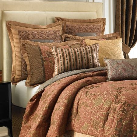 The Palazzo comforter set by Croscill Couture features an elaborat  Gorgeous Comforters