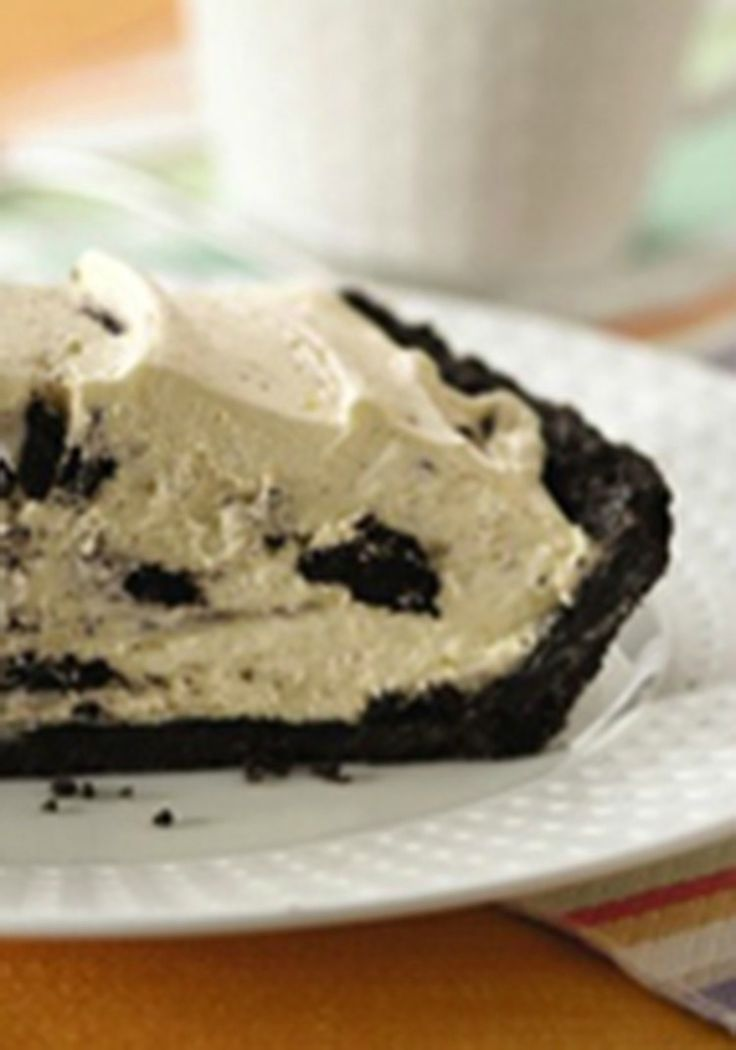 OREO Cream Pie — Ready to pop in the fridge in just 15 minutes, this OREO Cream Pie gets its creaminess from vanilla pudding, milk and whipped topping.