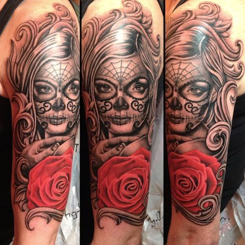 10 Utherworldly Day of the Dead Tattoos | Tattoo.com