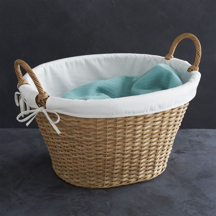 Wicker Laundry Basket With Liner Reviews Crate And Barrel