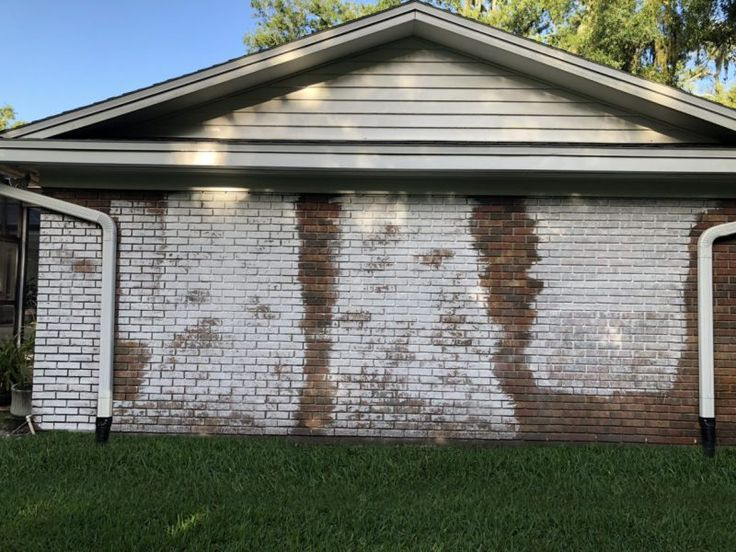 Painted Brick House Exterior Before And After White Trim