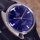 VINTAGE MEN'S OMEGA SEAMASTER COSMIC AUTOMATIC ANALOG DRESS WATCH LEATHER BAND
