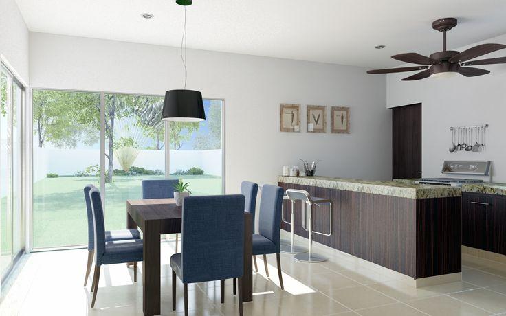 Render Cocina Residencial - EVA3D
