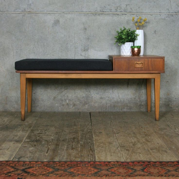 vintage_teak_mid_century_telephone_seat_bench.1