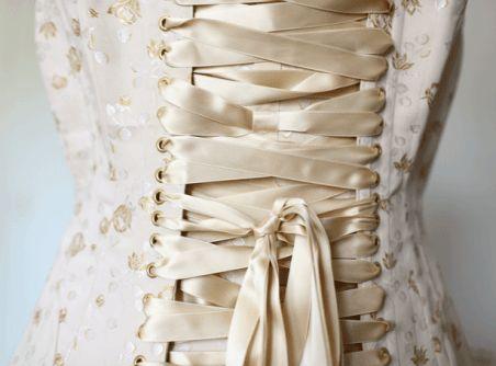 Satin ribbon corset laces by Zoé Corsets