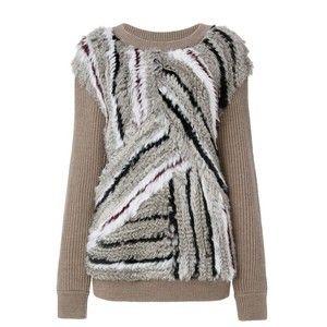 Diane von Furstenberg Jamesyn Knitted Fur Sweatshirt
