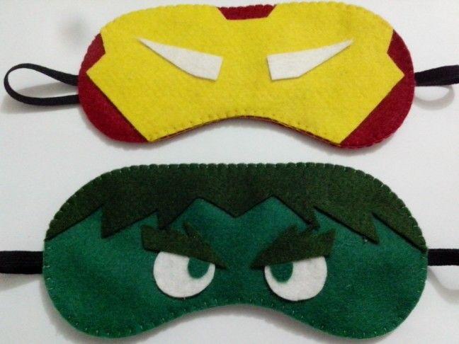 Máscaras de dormir Homem de Ferro e Hulk Pontos de Amor by Jéssica