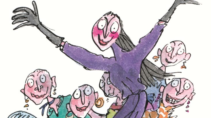 Lesson plan ideas for Dahl's The Witches, illustrated by Quentin Blake.