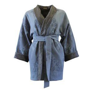 Image of Blå kimono jakke med thermo foer