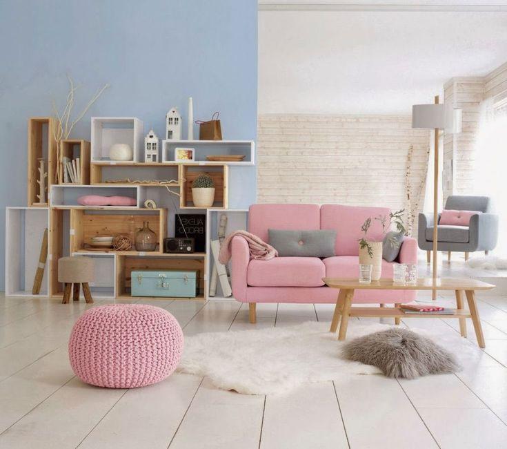 Salon rose poudr house flat decorations pinterest hogar decoracion 2016 and muebles - Salon rose poudre ...