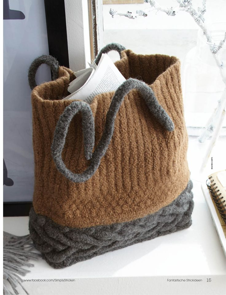 Knitting Bag Patterns : Best images about crochet knit first and felt