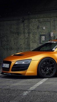 Pmarańczowe Audi R8