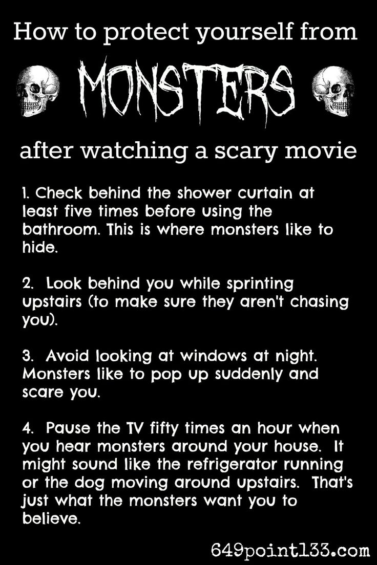Tips And Tricks For Wussies To Avoid Imaginary Monsters Potentially Living  In Your House (and Definitely In Your Basement. Scary Movie QuotesScary ...