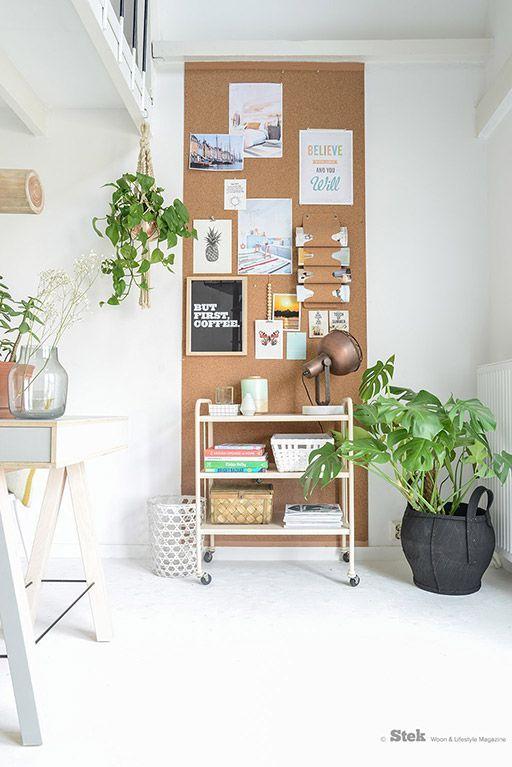 Kantoor inspiratie | Kurk hout planten | Styling & fotografie voor Stek editie 3, 2015: Binti Home | Office | Green