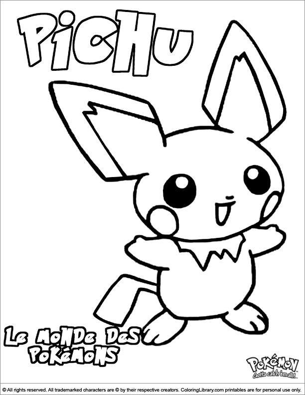 chibi pokemon printable coloring pages - photo#29