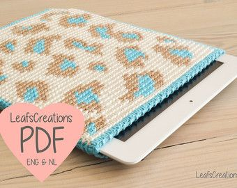 Tapestry crochet pattern iPad tablet case cover sleeve English & Dutch