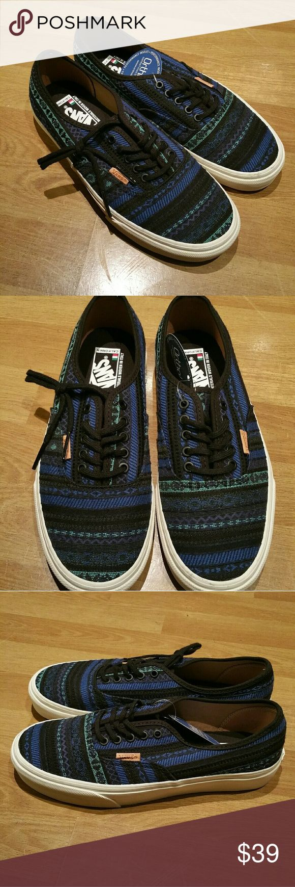 Womens Vans sneakers Brand new. Size 9. Never worn. Materials woven in Italy. Vans Shoes Sneakers