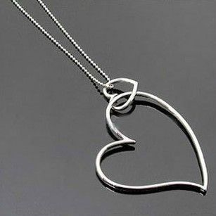 Dual interlocking love necklace