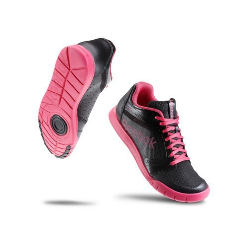 reebok dance shoes. reebok - women\u0027s dance urlead black / candy pink v47149 a low cut shoe built shoes e