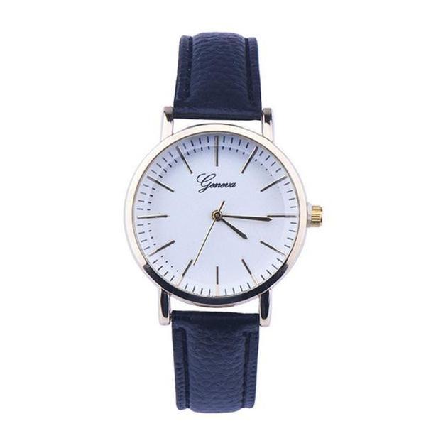 Leather Analog Quartz Wrist Watch