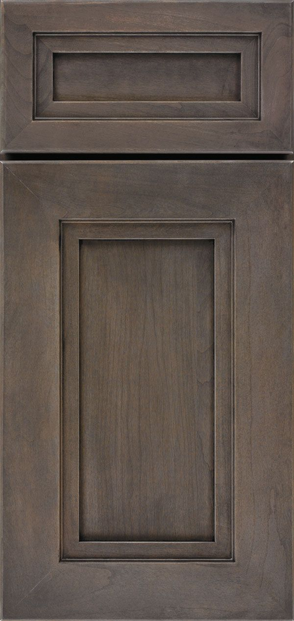 Cabinet Door Styles Gallery - Custom Cabinetry - OmegaCabinetry.com Lorient door, cherry wood, smokey hills stain